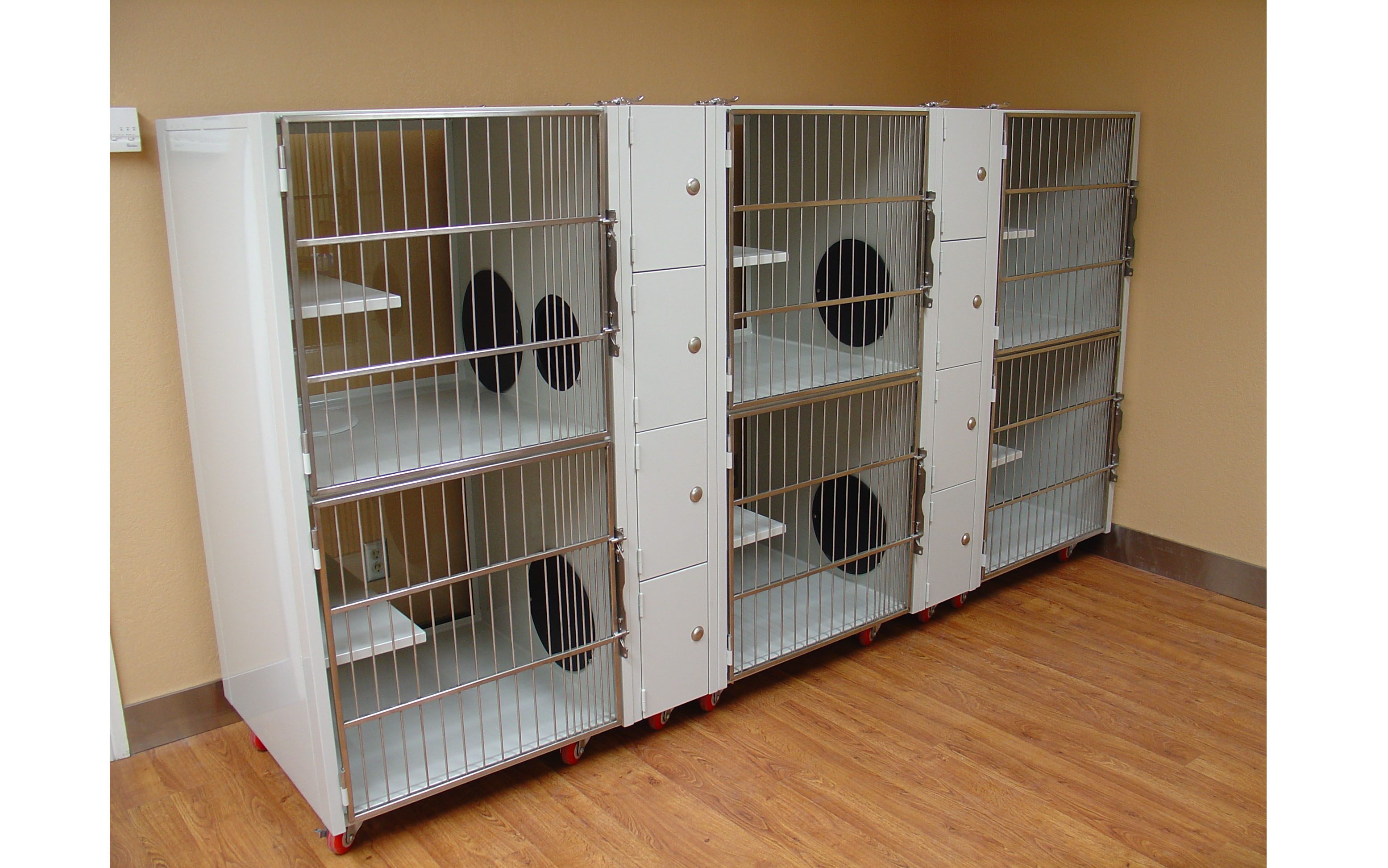 Powder Coated Double Stack Kitty Litter Direct Animal