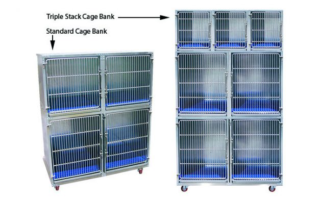 Strong, galvanized steel with easy-clean features: ideal for large and small dog cages and cattery cages.