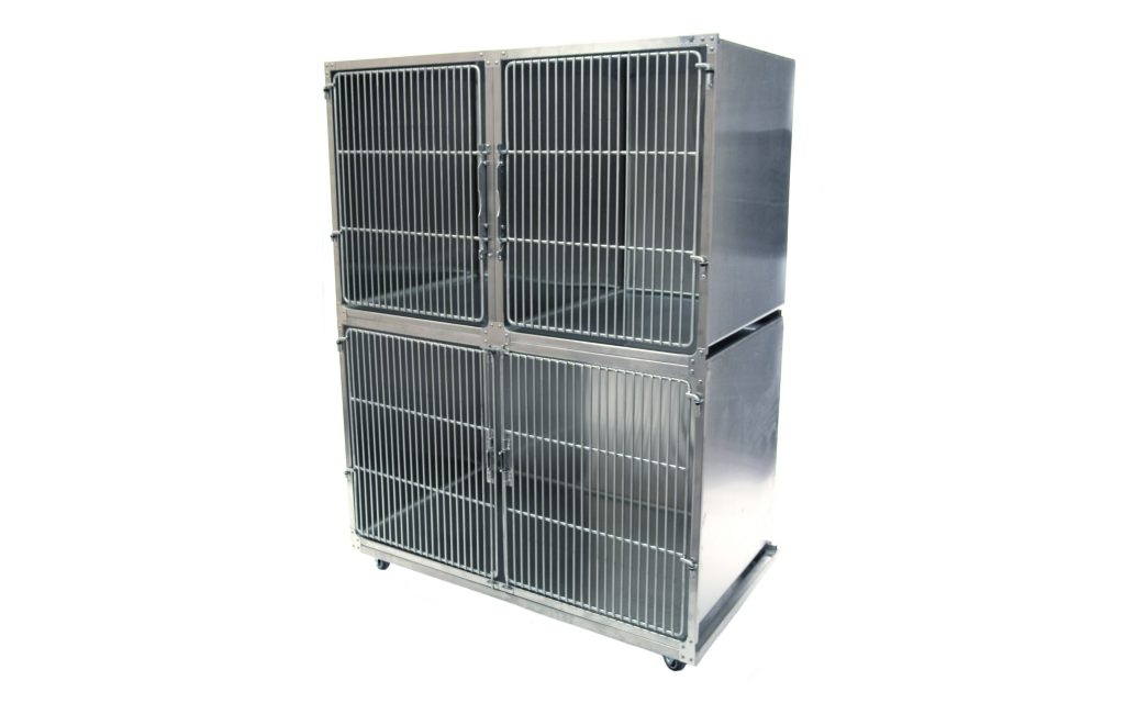 No more sagging doors – ever! TriStar Vet stainless steel veterinary cages are the strongest cages available
