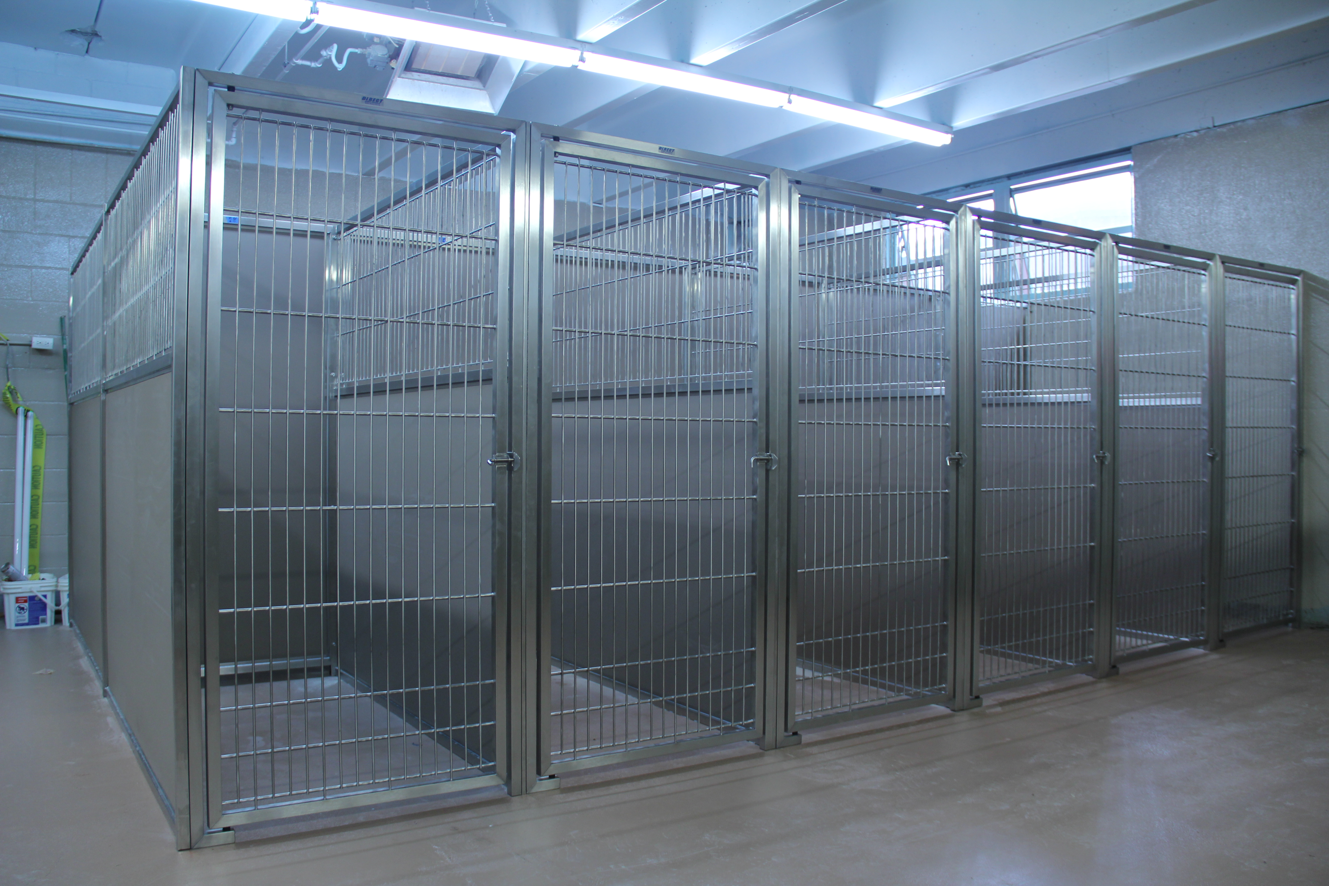 & The Best Dog Kennel Panels Start with Durable Stainless Steel Doors