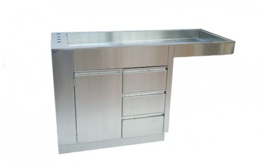 Direct Animal photo: With impeccable stainless steel construction and plenty of storage, our veterinary table/wet prep cabinet is the best value available