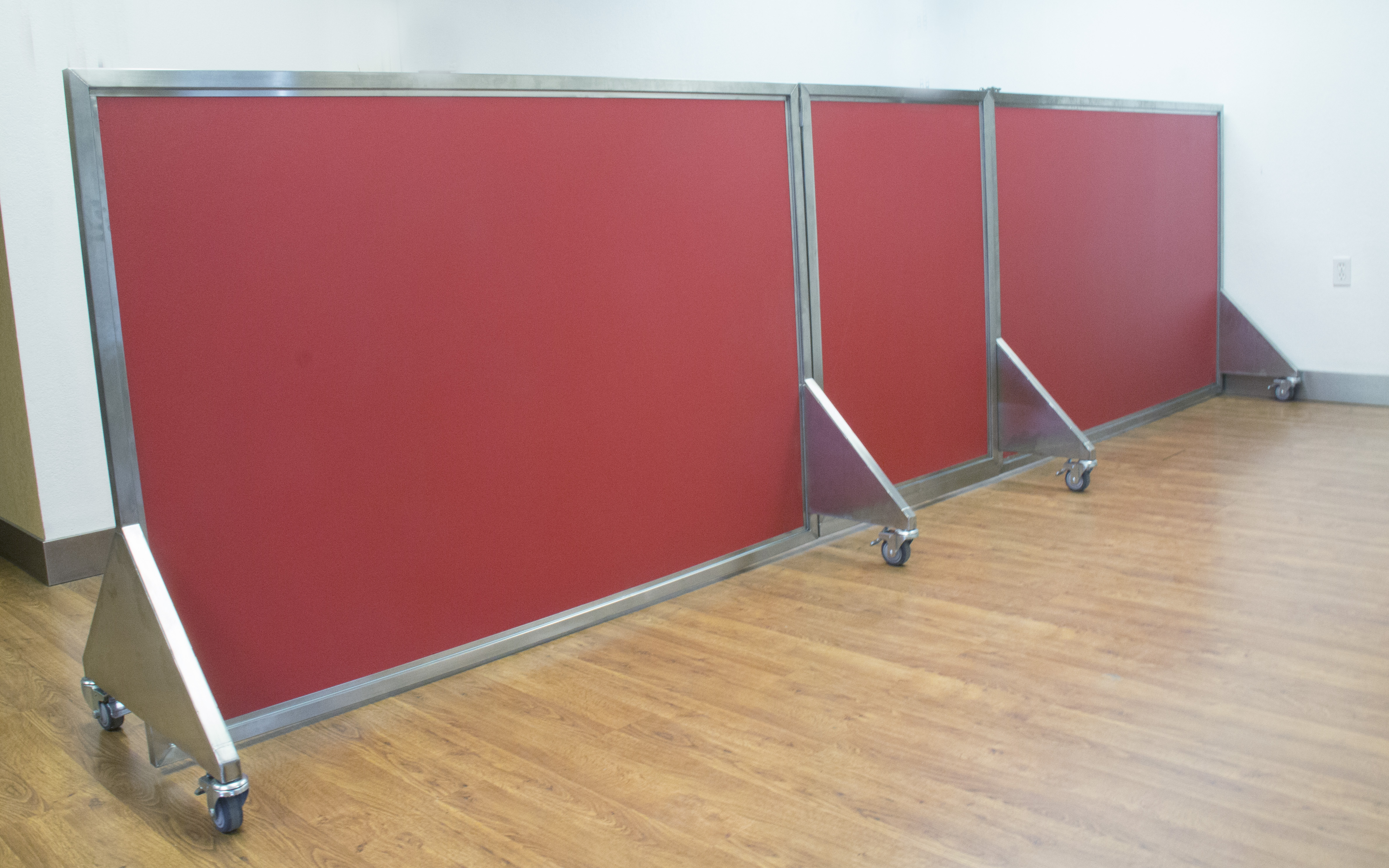 Our Dog Day Care Equipment Includes Colorful Kennel Room