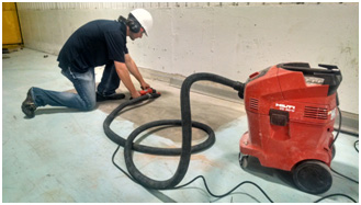 "Direct Animal image: ""Preparing a concrete substrate kennel floor to receive resinous coatings is no small undertaking and specialized preparatory equipment will be needed."" — Jeff Adney"