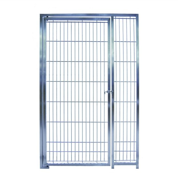 D1048-KD - 36 inch Hand Weld Stainless Steel Dog Door by Direct Animal Products