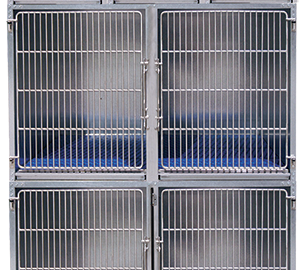 Heavy-duty, never-warp steel cages With stay-dry subfloors and 1-step waste removal.